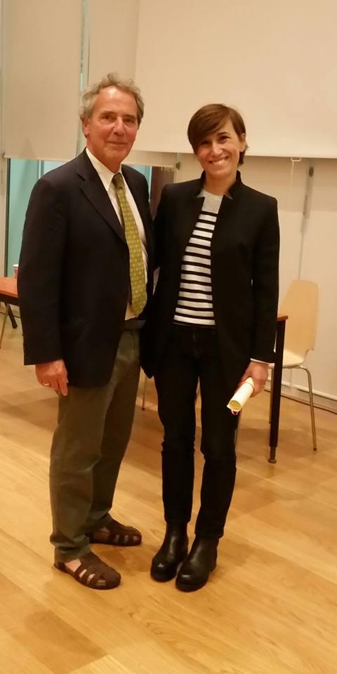 BRUNO CONTIGIANI Premia VERONICA PEDRIALI vincitrice dello Slow coaching con Barbara Demi
